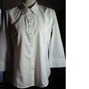Liz Claiborne White Non Iron Cotton Shirt Shirt 10